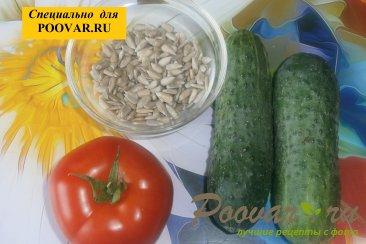 Овощной салат с семенами подсолнечника Шаг 1 (картинка)