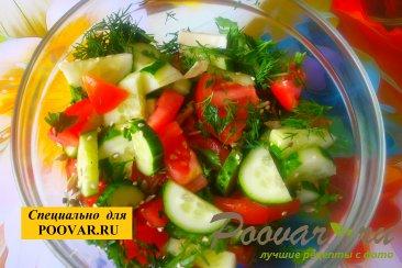 Овощной салат с семенами подсолнечника Шаг 6 (картинка)