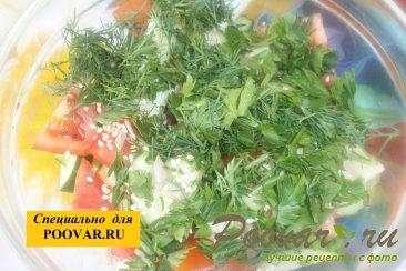 Овощной салат с семенами подсолнечника Шаг 5 (картинка)