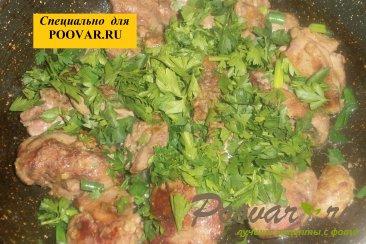 Куриная печень с зеленью Шаг 9 (картинка)