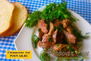 Куриная печень с зеленью Шаг 11 (картинка)