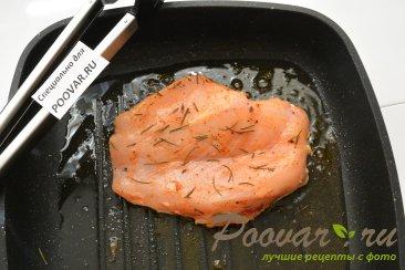 Куриная грудка с грибами в сливочном соусе Шаг 5 (картинка)