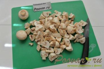 Куриная грудка с грибами в сливочном соусе Шаг 4 (картинка)