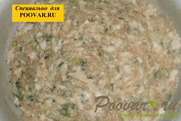 Куриные котлеты со шпинатом и зелёным луком Шаг 5 (картинка)