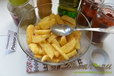 Картофель фри в микроволновке Шаг 5 (картинка)