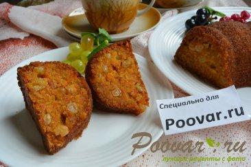 Морковный кекс с манкой (постный) Изображение