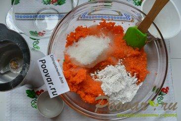 Морковный кекс с манкой (постный) Шаг 4 (картинка)