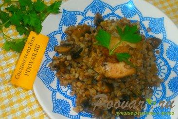 Гречка с курицей и грибами Шаг 13 (картинка)