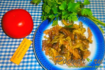 Макароны с грибами Шаг 6 (картинка)