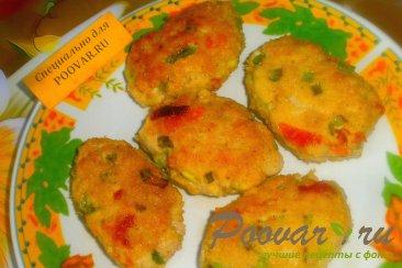 Мясные котлеты с зелёным луком и вялеными помидорами Шаг 11 (картинка)