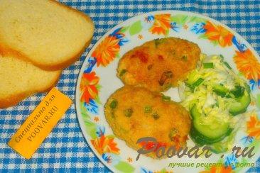 Мясные котлеты с зелёным луком и вялеными помидорами Шаг 12 (картинка)
