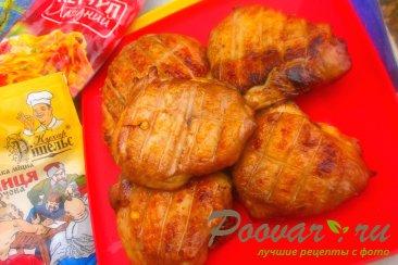 Куриные бёдра с горчицей и кетчупом Изображение
