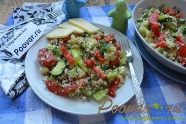 Овощной салат с кускусом Изображение