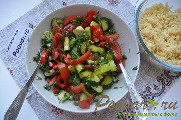 Овощной салат с кускусом Шаг 9 (картинка)