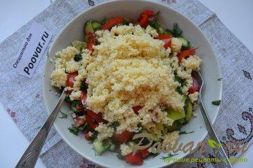 Овощной салат с кускусом Шаг 10 (картинка)
