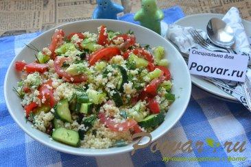 Овощной салат с кускусом Шаг 12 (картинка)