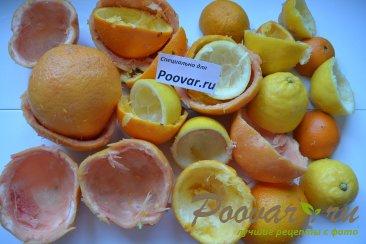 Цукаты из грейпфрутовых, апельсиновых и лимонной корки Шаг 1 (картинка)