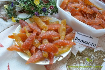Цукаты из грейпфрутовых, апельсиновых и лимонной корки Шаг 11 (картинка)