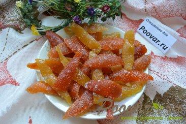Цукаты из грейпфрутовых, апельсиновых и лимонной корки Шаг 12 (картинка)