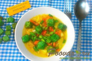 Суп гороховый с сухариками со вкусом васаби Изображение