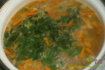 Суп гороховый с сухариками со вкусом васаби Шаг 11 (картинка)