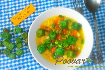 Суп гороховый с сухариками со вкусом васаби Шаг 13 (картинка)