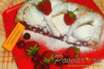 Пирог из дрожжевого теста с ягодами и зефиром Шаг 15 (картинка)
