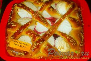 Пирог из дрожжевого теста с ягодами и зефиром Шаг 13 (картинка)