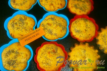 Кексы с луком и сыром Шаг 7 (картинка)