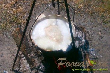 Уха на костре с дымком Шаг 1 (картинка)