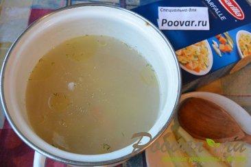 Куриный суп с макаронами и шпинатом Шаг 5 (картинка)