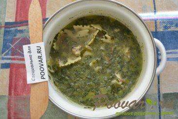 Куриный суп с макаронами и шпинатом Шаг 8 (картинка)