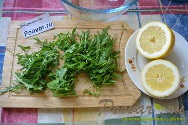 Овощной салат с рукколой и авокадо Шаг 1 (картинка)