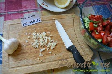 Овощной салат с рукколой и авокадо Шаг 4 (картинка)