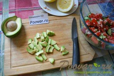 Овощной салат с рукколой и авокадо Шаг 5 (картинка)
