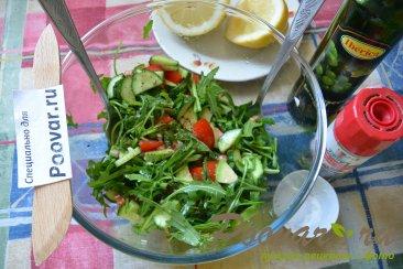 Овощной салат с рукколой и авокадо Шаг 7 (картинка)