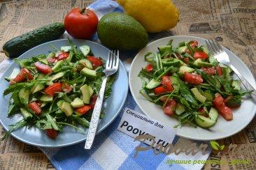 Овощной салат с рукколой и авокадо Шаг 8 (картинка)