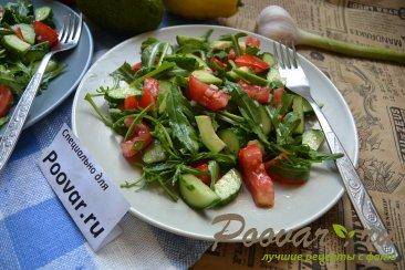 Овощной салат с рукколой и авокадо Шаг 9 (картинка)