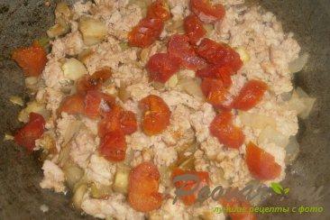 Макароны с луком и вялеными помидорами Шаг 6 (картинка)