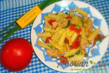 Макароны с луком и вялеными помидорами Шаг 11 (картинка)
