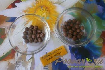 Манная каша с шоколадными шариками Шаг 3 (картинка)