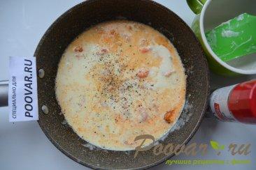 Спагетти с креветками в сливочном соусе Шаг 3 (картинка)