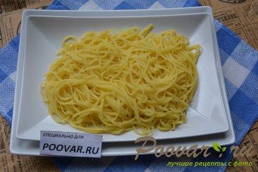 Спагетти с креветками в сливочном соусе Шаг 7 (картинка)