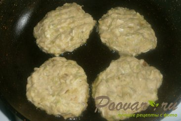 Кабачковые оладьи с сыром и луком Шаг 12 (картинка)