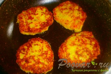 Кабачковые оладьи с сыром и луком Шаг 13 (картинка)