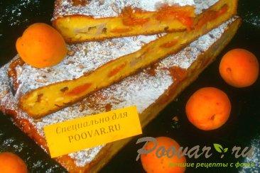 Творожный пирог с бананом и абрикосом Изображение