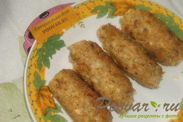 Куриные колбаски с луком и сулугуни Шаг 10 (картинка)