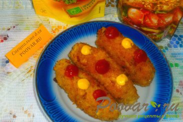 Куриные колбаски с луком и сулугуни Шаг 11 (картинка)