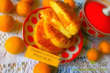 Сырники творожные с абрикосами Шаг 12 (картинка)