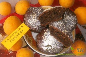 Шоколадные кексы из абрикосов и кабачков Изображение